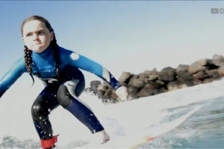 Inspiring 6-year-old will wow you with her surfing and skating skills