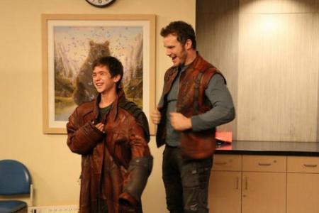 Chris Pratt steals Star-Lord costume to visit sick children in hospital