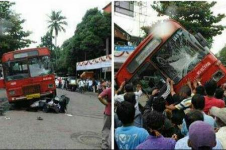 WATCH: How people power in India saves two students trapped under a bus