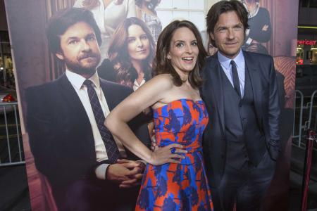 Comics Tina Fey and Jason Bateman unscripted: Who's up for ideas and insults?