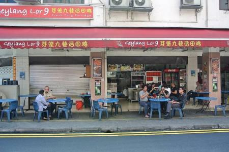 Barriers to make outdoor dining safe in Geylang?