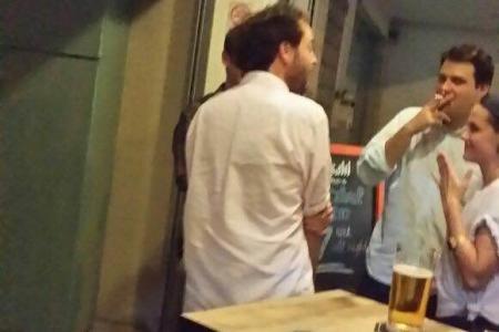 Spotted: Kristen Stewart having beers in Katong