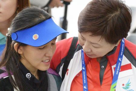 Contrasting fortunes for shooters Gai Bin and Jasmine