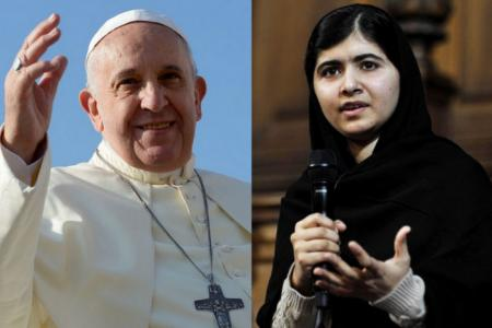 The Pope, Malala tipped for Nobel Peace Prize