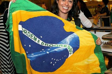 Brazil, Japan fans get ready to cheer teams on