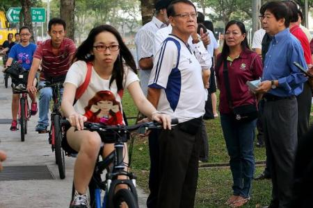 After police warning, cyclists continue riding on pavement