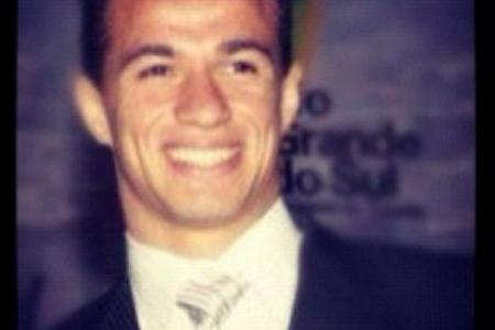 Brazil striker facing ban for tugging own shirt