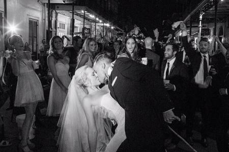 Candice Accola and The Fray's Joe King got married with music and vampires!