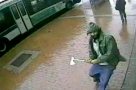 PHOTOS before and after: First-hand look at moments when terrorist attacks NYPD cops with axe