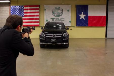 WATCH: Employee fires AK-47 at vehicle with CEO inside in safety test