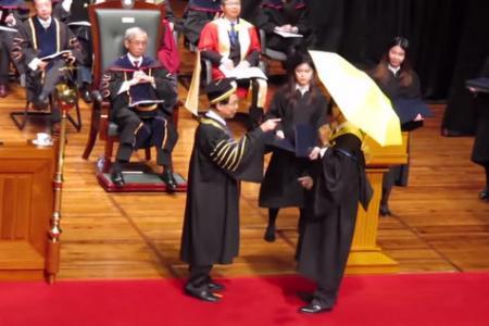 WATCH: Hong Kong student refused diploma after opening yellow umbrella at graduation ceremony
