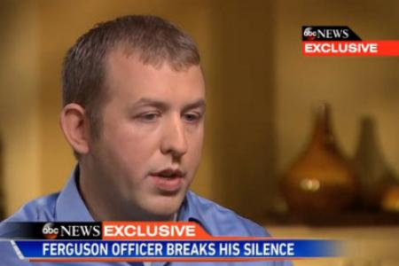 """Police officer Darren Wilson speaks about the Michael Brown shooting: """"I have a clear conscience."""""""