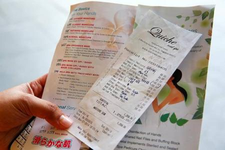 Spat over bill at HarbourFront nail spa: $1,260 bill manicure leaves couple sore