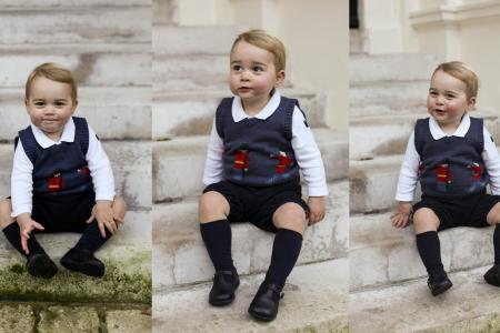 Prince George is looking extremely cute in newly-released Christmas photos