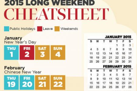 TNP's 2015 Long Weekend Cheatsheet: Here's how to plan your holidays for next year