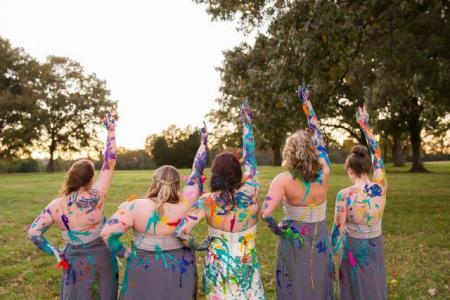 WATCH: Jilted bride trashes wedding dress in colourful fashion