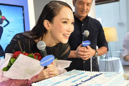 Hubby Chris to Fann Wong: Let's try for No. 2