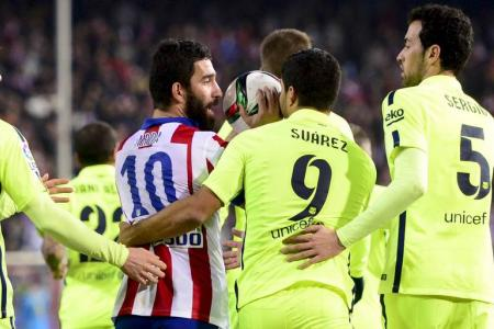 Watch: Turan escapes red after throwing boot at linesman