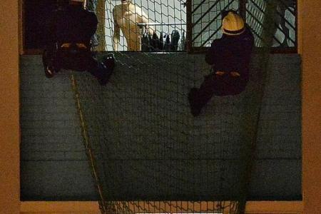 Naked man arrested for allegedly hitting mum