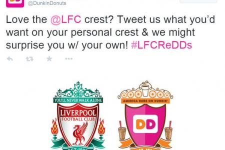 Angry Liverpool fans bite into Dunkin Donuts over crest campaign