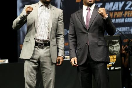 Fight's on: Boxers Pacquiao and Mayweather face off after five-year wait