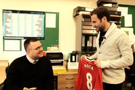 WATCH: Juan Mata surprises man on his 15-year anniversary working at Old Trafford