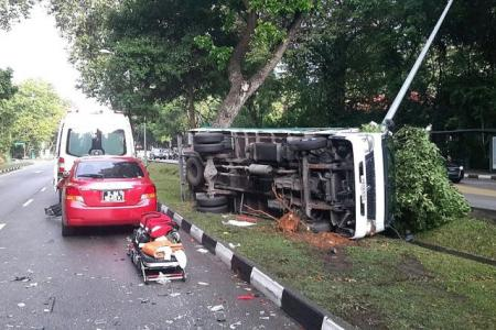 2 crashes, 2 hurt