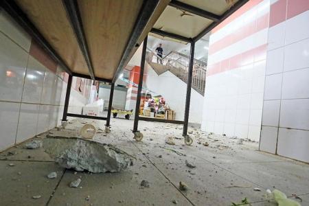Crash at Chinatown Complex sends debris flying