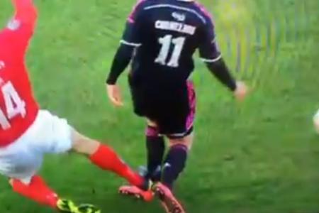 Young Danish footballer's ankle broken in horror tackle
