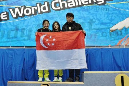 S'pore girls fly high in international skydiving contest