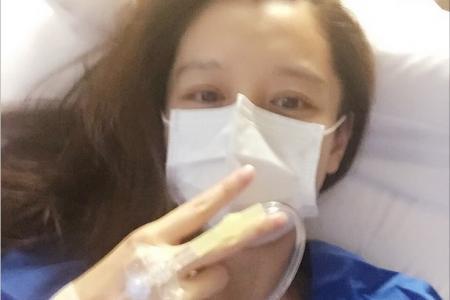 Stomach flu puts Vivian Hsu in hospital