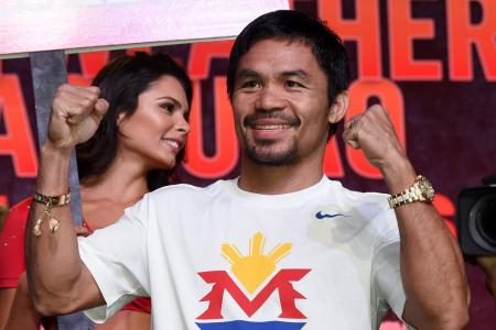 WATCH: Manny Pacquiao focused in training ahead of the big fight