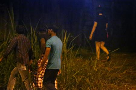 Rail Corridor turns into sins avenue at night