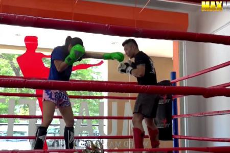WATCH: Female Muay Thai fighter pretends to be clueless nerd