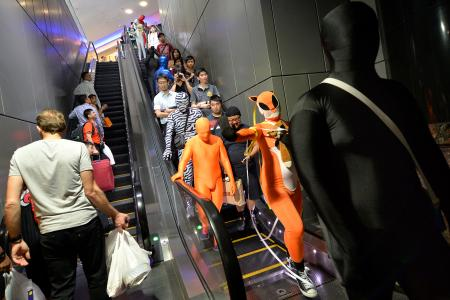 A tight squeeze down Orchard Road