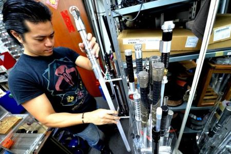 The man who makes lightsabers