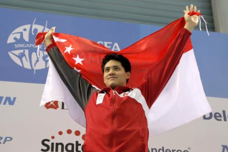 S'pore swimmers sweep six out of seven golds
