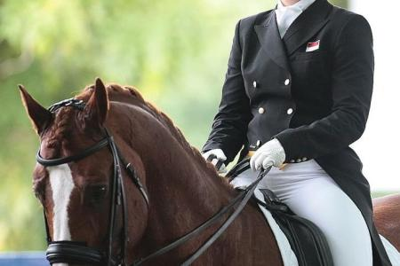 Indonesian rider shows her class in dressage event