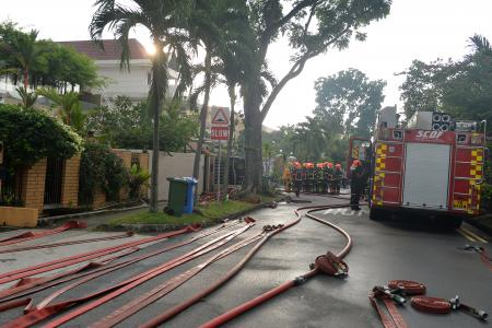 Maid shouts and tries to wake family in burning house