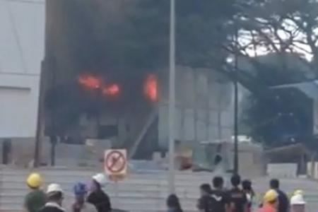 Fire consumes Choa Chu Kang dormitory