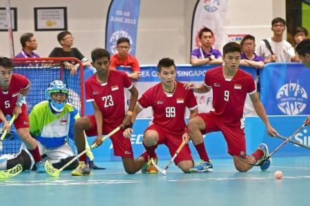 S'pore floorball teams off to a sizzling start