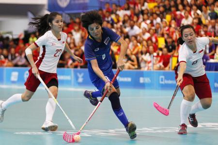 Gold for Singapore women's floorball team