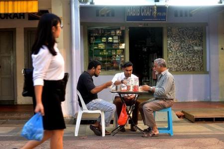 Muslims take a break together