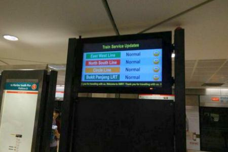 Train services resume, including NSL