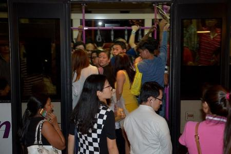 MRT chaos: Man walks from Orchard to Bishan to get home