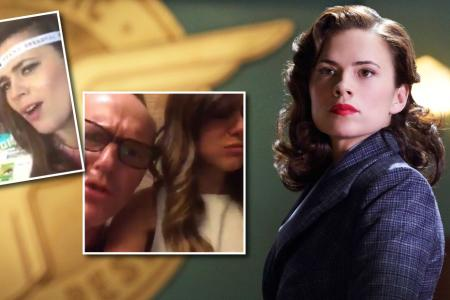 Hayley Atwell wins Marvel Dubsmash war... with a little help from Captain America