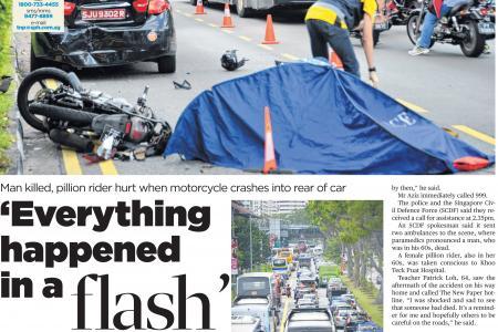 Wife in bike crash dies, minibus driver arrested