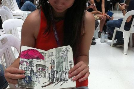 Sketching Singapore in its actual state