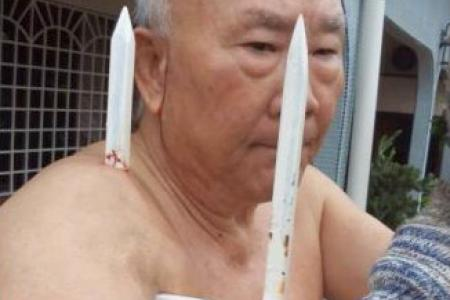 Man falls while gardening, gets pierced by fence