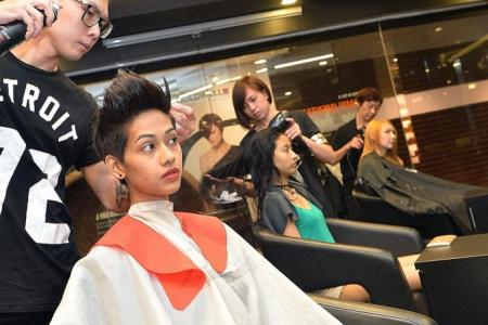 New Face finalists get hair makeovers